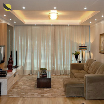 Cortina sala for Tipos de ganchos para cortinas